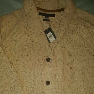 TOMMY HILFIGER LUXURY BLEND OATMEAL SHAWL CARDIGAN